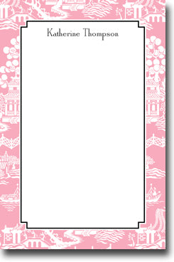 Chinoiserie Pink notepads
