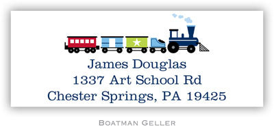 Choo Choo Train Personalized Address Label