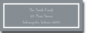 Classic Gray Personalized Address Label