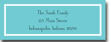 Classic Teal Personalized Address Label