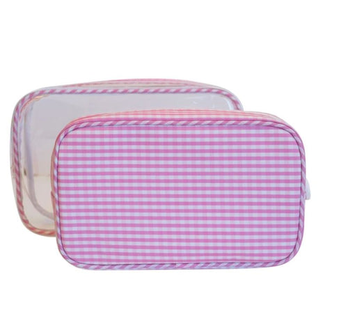 CLEAR DUO GINGHAM BAG SET