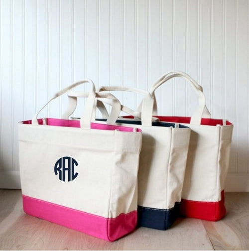 Personalized Color block Tote Choose Color