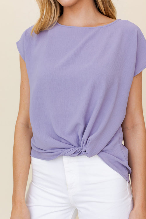 SHORT SLEEVE TOP WITH TWIST