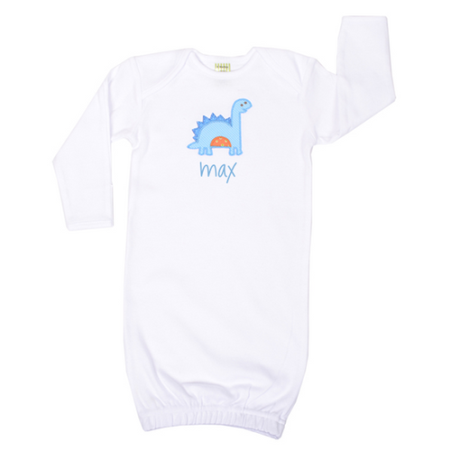 Personalized Newborn Dino Baby Gown