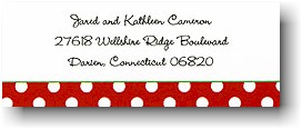 Dot Red With Green Personalized Address Label
