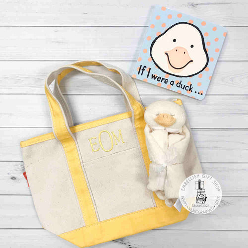 Baby Duck Gift Set Open Tote & Book