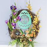 Lifestyle Outdoor Easter Egg Wooden Monogram