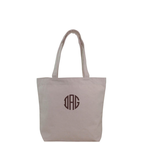 Effortless Tote Natural with Monogram
