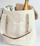 Monogrammed Essential Tote Natural