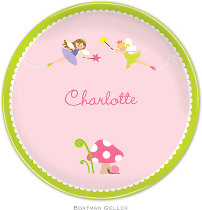 Set of 2 Personalized Plate Fairy