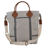 Canvas Colored Flight Bag Gray Stripes