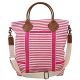 Canvas Colored Flight Bag Hot Pink Stripes