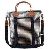 Canvas Colored Flight Bag Navy Stripes
