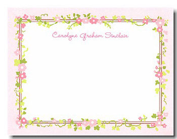 Floral Border personalized stationery