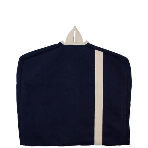 Colored Garment Bag Navy and Natural