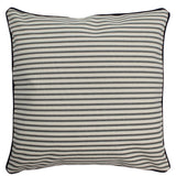 Canvas Pillow Cover 12 x 12 Gray Stripes