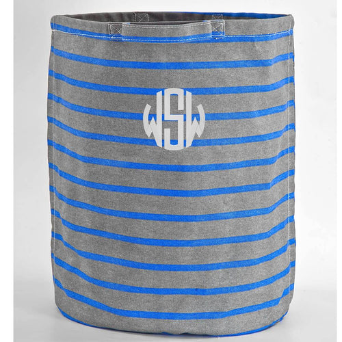 Hamper Storage Gray Sailor Stripes