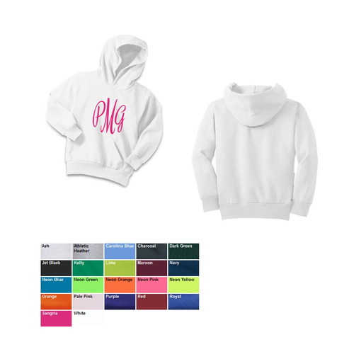 Personalized Youth Hooded Sweatshirt