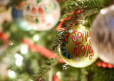 Jolly Jolly Stockings Glass Personalized Ornament