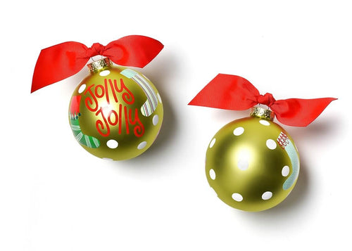 Jolly Jolly Stockings Glass Ornaments
