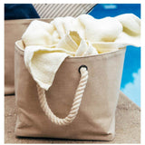 Lifestyle View Jute Storage with Rope Handles Choose Size