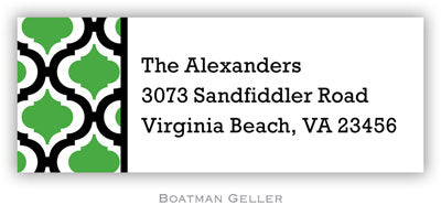 Kate Black And Kelly Personalized Address Label