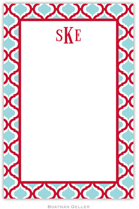 Kate Red & Teal notepad