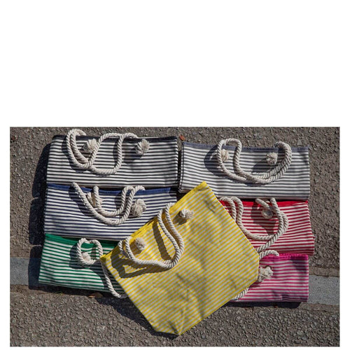 Knotted Rope Tote Stripes Choose Color