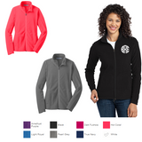 Ladies Monogrammed Microfleece Jacket