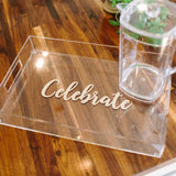 Large Acrylic Tray with Vinyl