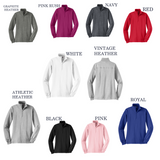 Monogrammed  Ladies 1/4-Zip Pullover Sweatshirt