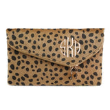 Crossbody Personalized Leopard Faux Fur Clutch