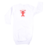 Personalized Lobster Love Newborn Gown