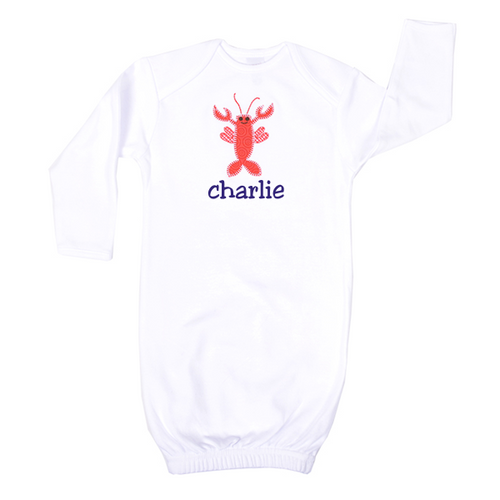 Personalized New Born Lobster Love Gown