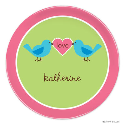 Set of 2 Personalized Plate Love Birds