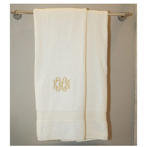 Luxury Cotton Bath Towels Set of 2 Choose Color Ivory