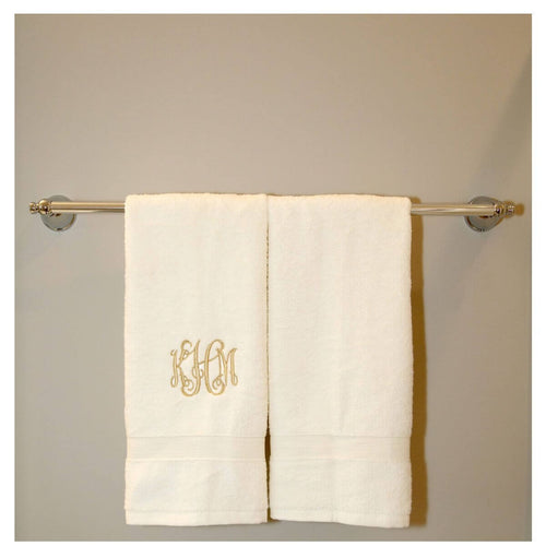 Luxury Cotton Hand Towels Set of 2 Choose Color Ivory