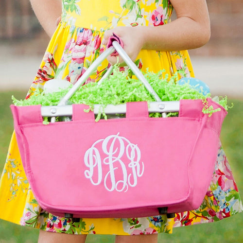 Hot Pink Mini Market Tote Lifestyle