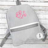 Personalized Backpack Seersucker Backpack By Mint