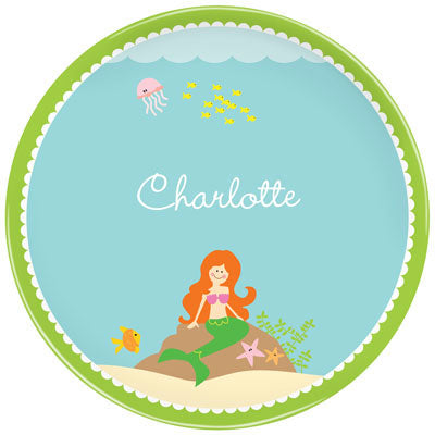 Set of 2 Personalized Plate Mermaid