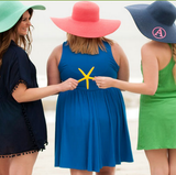 Monogrammed Floppy Sun Hats Choose Color