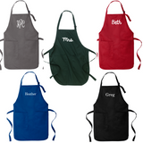 Personalized Adult Apron-Adjustable Neck Choose from 12 Colors