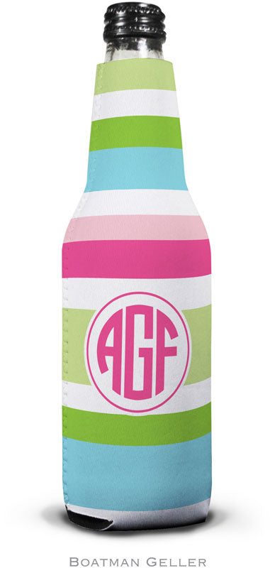 Espadrille Preppy Set Of 2  Monogrammed Bottle Koozies