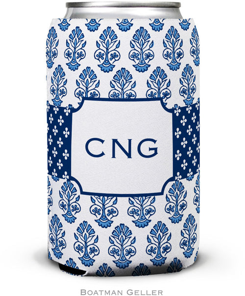 Beti Navy Set of 2 Monogrammed Can Koozies