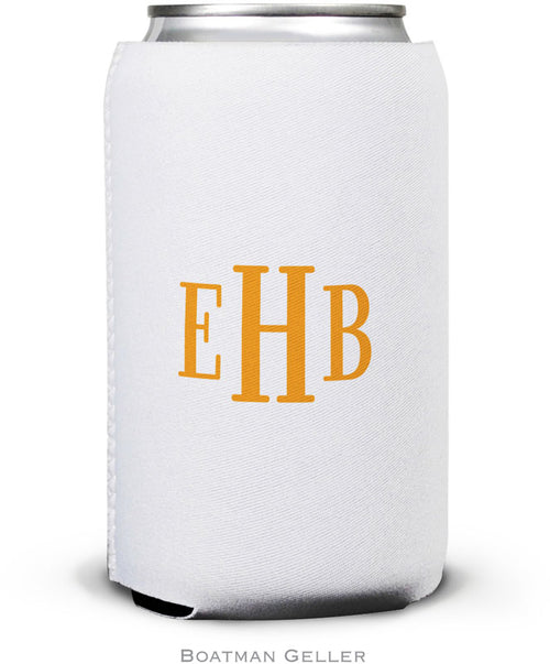 Classic Monogram Set of 2 Monogrammed Can Koozies