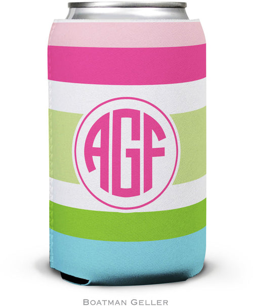 Espadrille Preppy Set of 2 Monogrammed Can Koozies