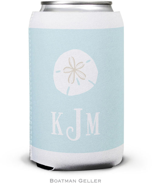 Sand Dollar  Set of 2 Monogrammed Can Koozies