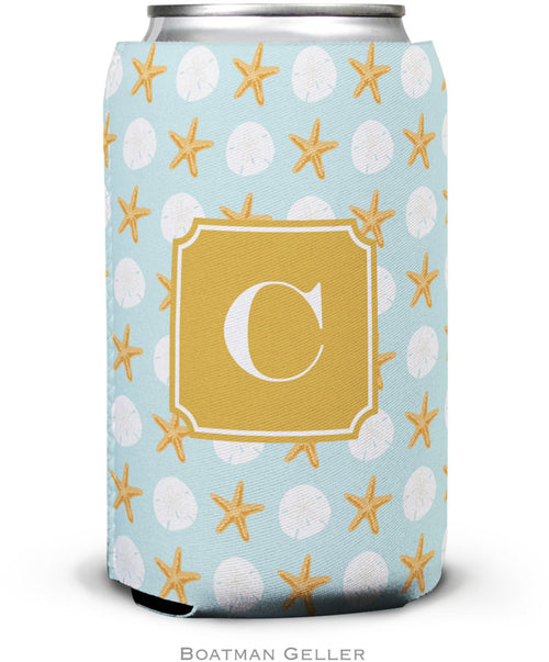 Seashore Preset Set of 2 Monogrammed Can Koozies