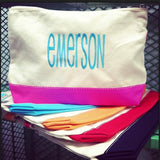Color Dipped Cosmetic Bags- Choose Color