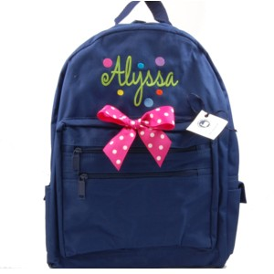 Personalized Backpack-with Bubble Gum Dots